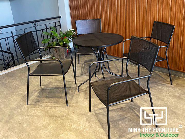Bộ bàn ghế sắt sân vườn BGS-MT321