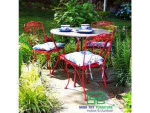 Bộ bàn ghế sắt sân vườn BGS-MT303