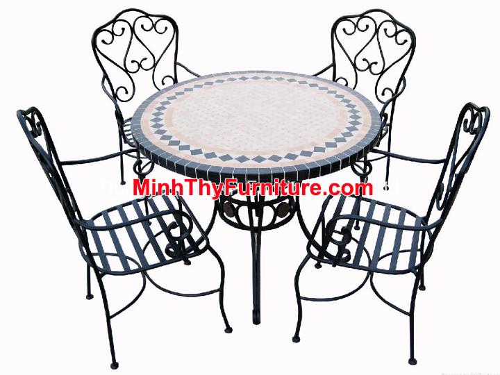 Bộ bàn ghế sắt sân vườn BGS-MT309