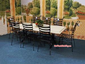 Bộ bàn ghế sắt sân vườn BGS-MT317