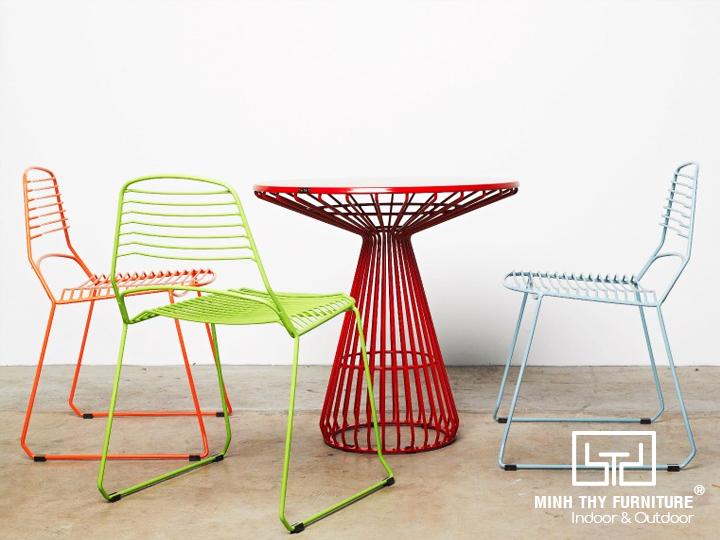 bộ bàn ghế sắt nghệ thuật